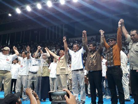 Prabowo Subianto menyepakati 10 poin dalam kontrak politik dengan KSPI/Medcom.id/Whisnu Mardiansyah
