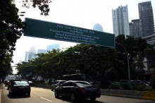 Volume Kendaraan di Sudirman-Thamrin Turun 40%