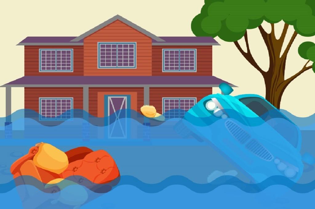 Ilustrasi banjir, Medcom.id - M Rizal