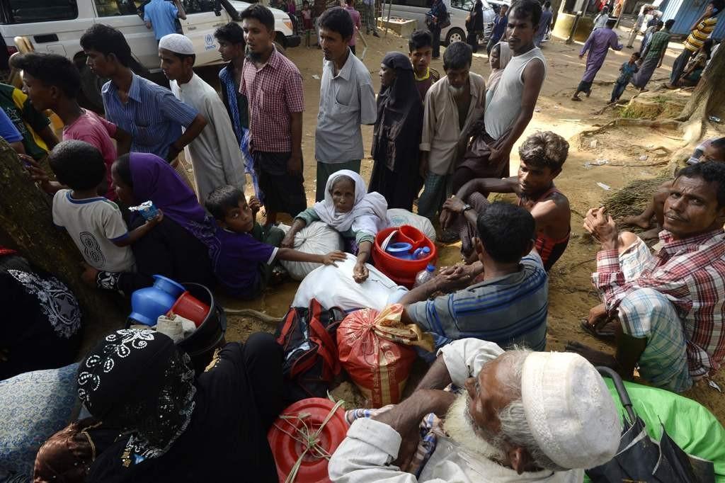 Pengungsi Rohingya yang berada di Bangladesh (Foto: AFP).