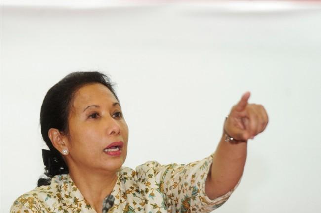 Menteri BUMN Rini Soemarno (ANT/Wahyu Putro A).