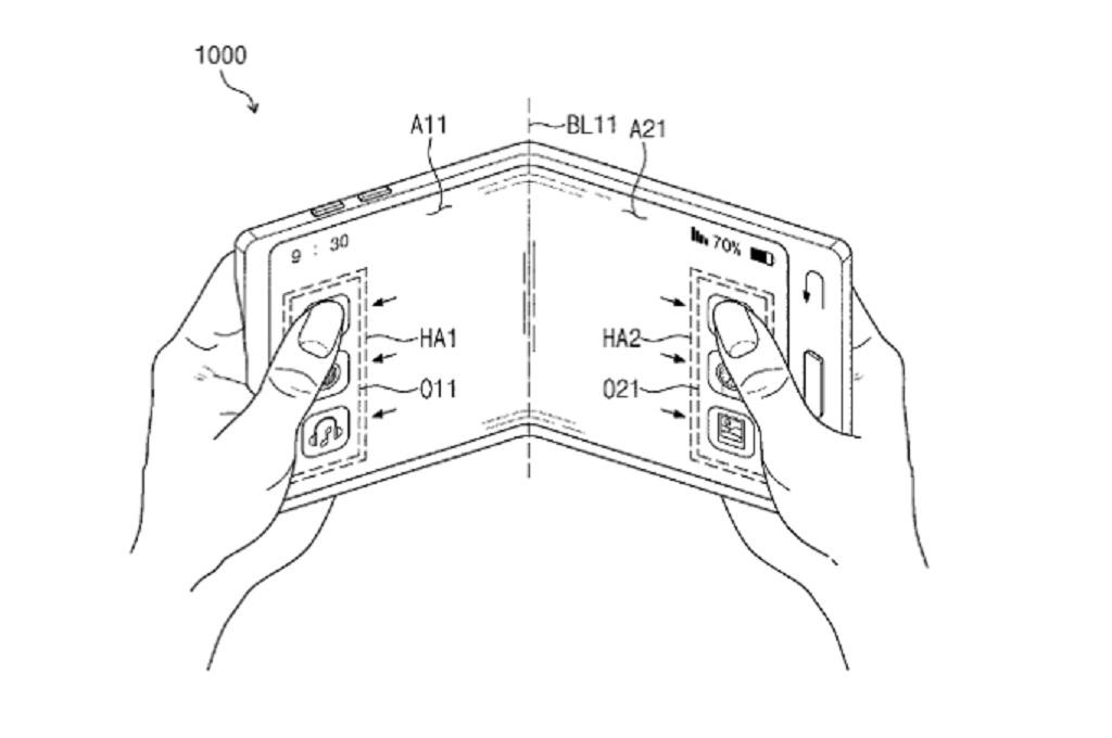 Samsung menerima sejumlah paten termasuk paten ponsel desain lipat dan paten layar smartphone transparan.