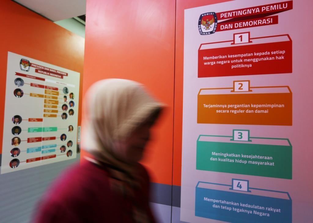 ILUSTRASI: Imbauan tentang pentingnya pemilu di Rumah Pintar KPU, Jakarta, Kamis (16/11)/MI/RAMDANI.