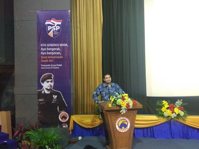 Ketua Umum GP Nasdem Prananda Surya Paloh. Foto: Annisa Ayu Artanti/Medcom.id