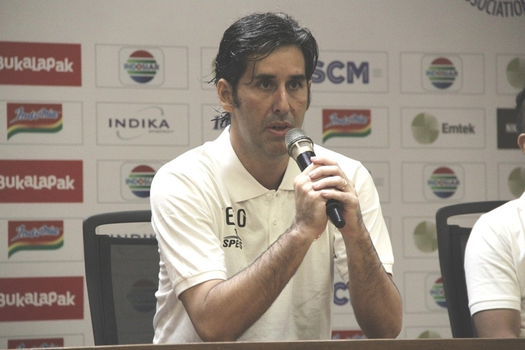 Pelatih Persija Jakarta Stefano Cugurra (Medcom.id/Rendy Renuki H)