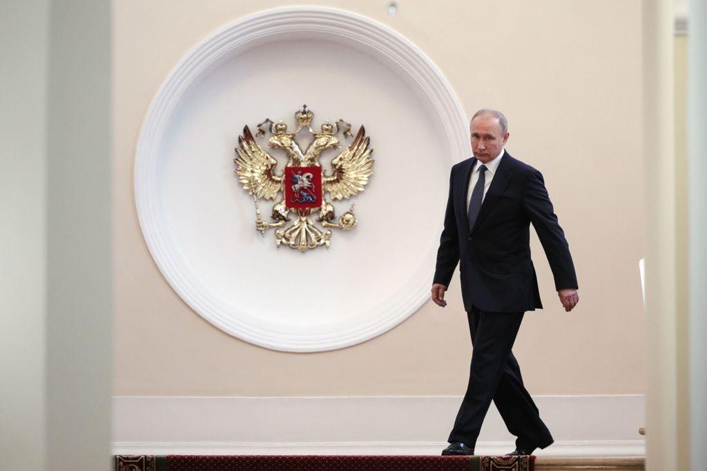 Vladimir Putin di Kremlin untuk pelantikan. (Foto: AFP)