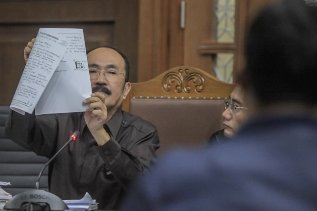 erdakwa kasus merintangi penyidikan kasus korupsi KTP elektronik, Fredrich Yunadi. Foto: Antara/Muhammad Adimaja