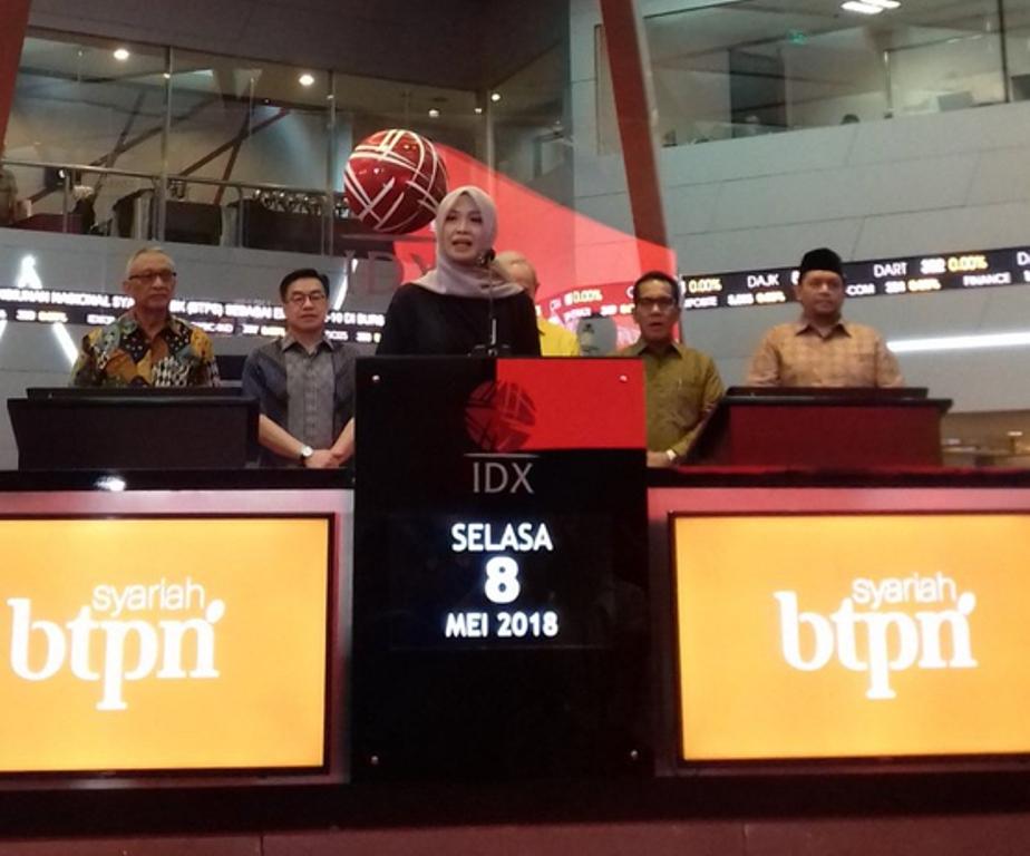 suasana ketika BTPN Syariah melakukan IPO (Foto: Medcom.id/Dian Ihsan Siregar)