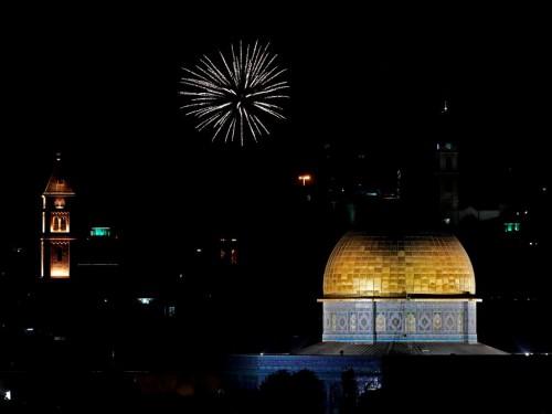Suasana di Yerusalem. (Foto: AFP).