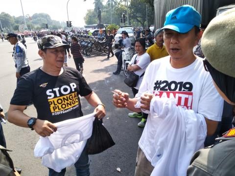 Polisi tak Pernah <i>Sweeping</i> Massa #2019GantiPresiden di CFD