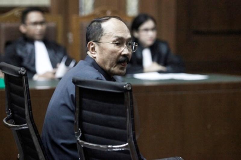 Terdakwa kasus merintangi penyidikan kasus korupsi KTP-el Fredrich Yunadi - ANT/Muhammad Adimaja.