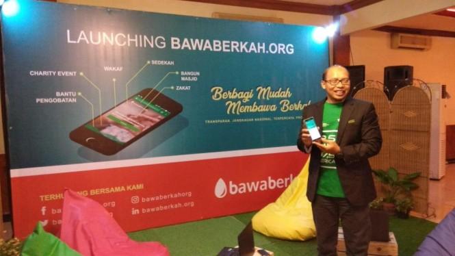 Dompet Dhuafa meluncurkan bawaberkah.org - Medcom.id/Fachri Audhia Hafiez.