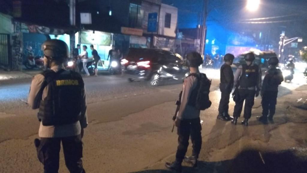 Situasi di sekitar Mako Brimob, Kelapa Dua, Depok, Jawa Barat usai kerusuhan. Medcom.id/Octavianus.