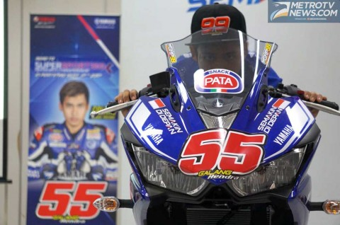 Galang Hendra ikut balap World Supersport 300. Dok. Medcom