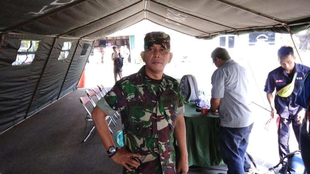 Asisten Logistik Kodam Jaya Kolonel Tri Hascaryo - Medcom.id/Fachri Audhia Hafiez.