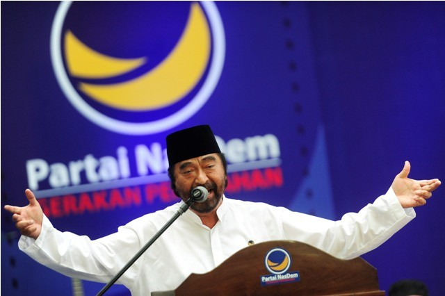 Ketua Umum NasDem Surya Paloh. Foto: Antara/Wahyu Putro.
