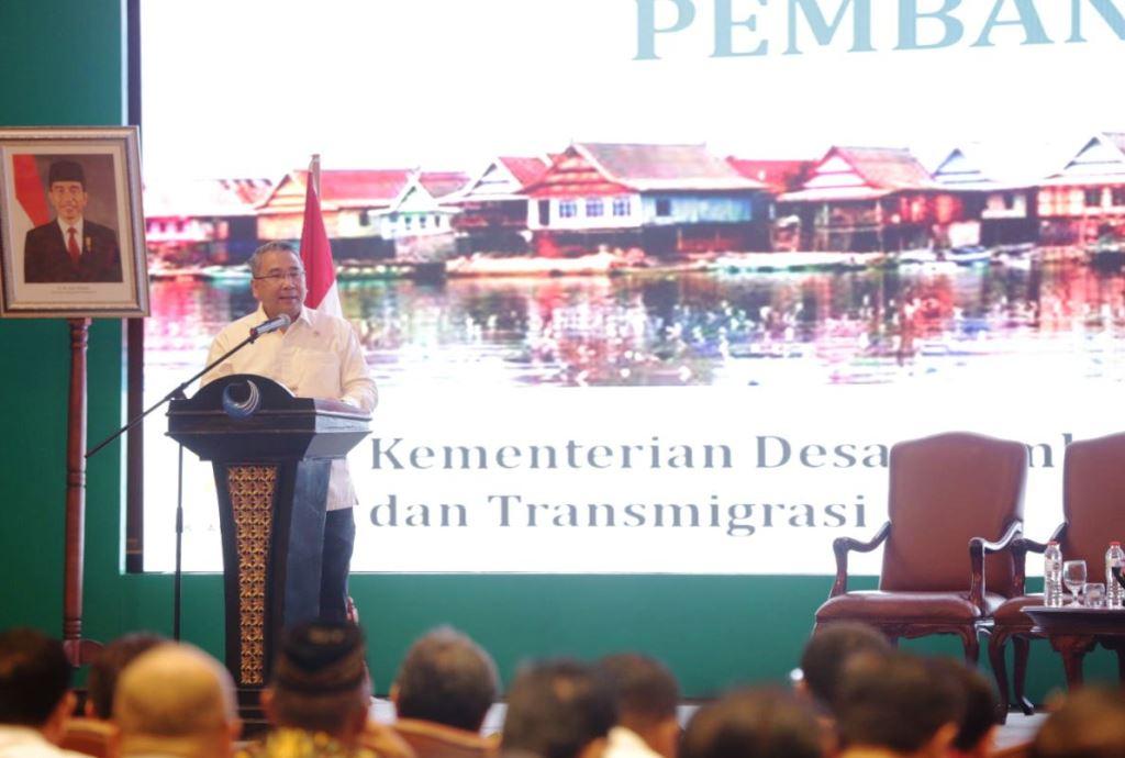 Mendes PDTT Eko Putro Sandjojo menghadiri Rakornas Percepatan Penyaluran Dana Desa Tahun 2018, di Hotel Bidakara, Jakarta, Rabu, 9 Mei (Foto:Dok)