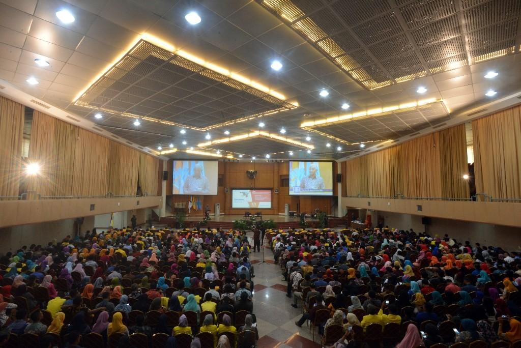 Suasana wisuda dan seminar pendidikan di Universitas Terbuka. Foto: MI/Susanto