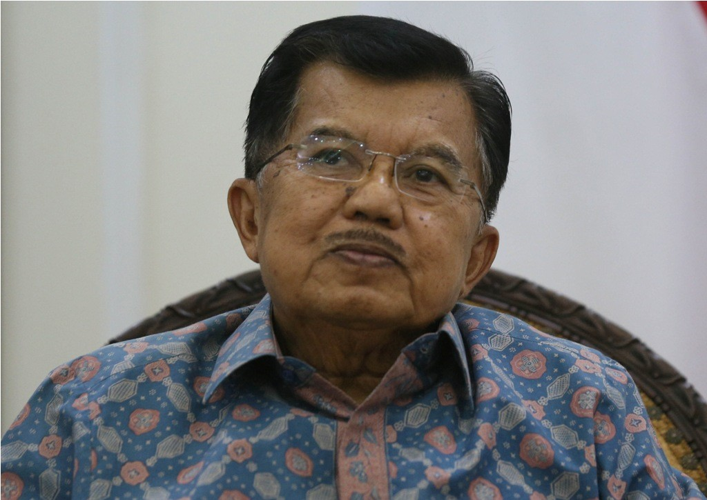 Wakil Presiden Jusuf kalla, saat diwawancarai Media Indonesia di Kantor Wapres, Jakarta, Kamis (28/12). MI/RAMDANI