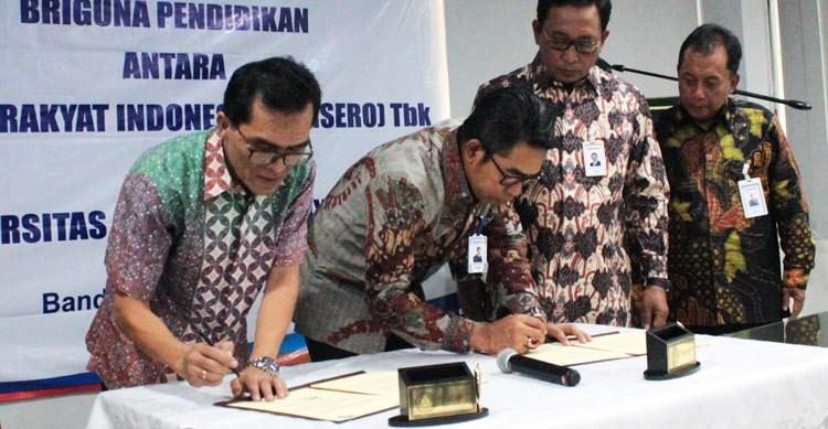 UNPAR melakukan penandatanganan MoU dengan BRI dalam kerangka Kerja Sama Briguna Pendidikan (Foto:Dok)
