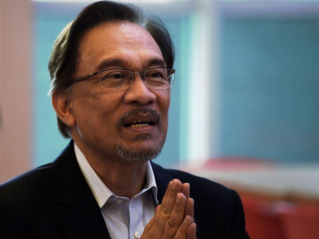 Pemimpin koalisi Pakatan Harapan Anwar Ibrahim. (Foto: AFP).