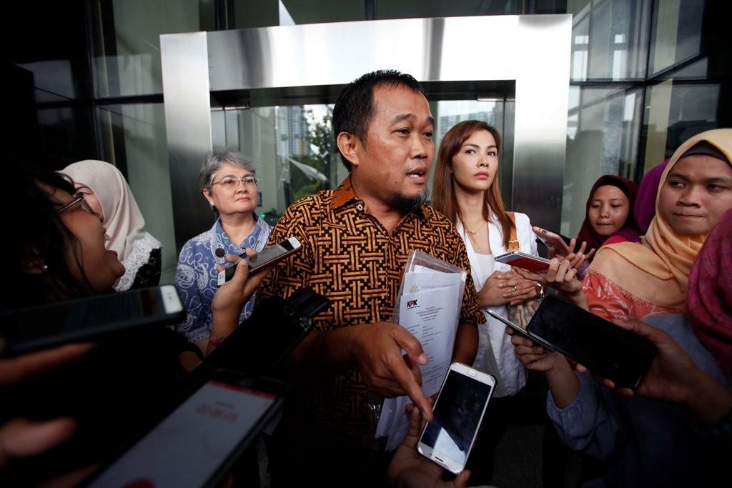 Koordinator Masyarakat Anti Korupsi Indonesia (MAKI) Boyamin Saiman. MI/Rommy Pujianto.