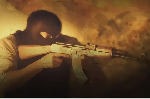 Baku Tembak dengan Terduga Teroris Terjadi di Cianjur