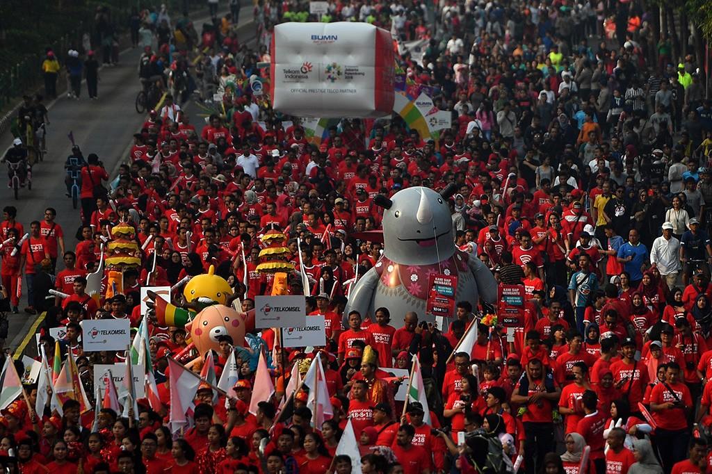 Kemeriahan Parade Asian Games 2018
