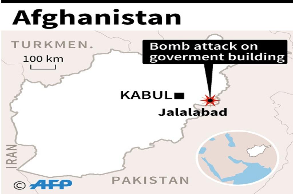 Lokasi serangan militan terhadap gedung pemerintah di Jalalabad, Nangarhar, Afghanistan, 13 Mei 2018. (Foto: AFP)