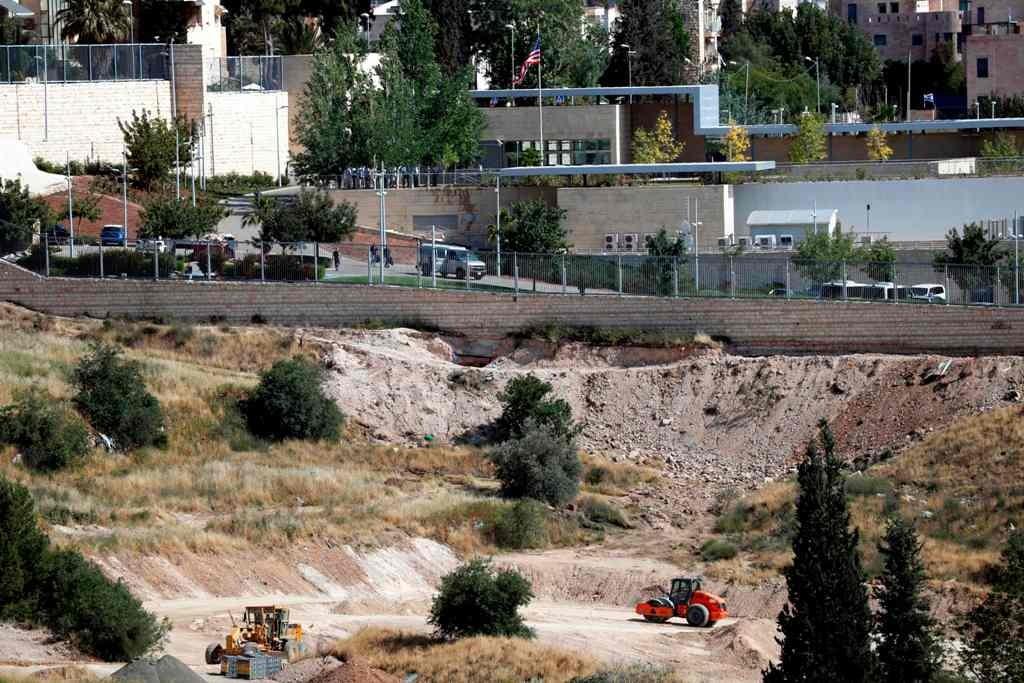 Lokasi Kedubes AS di Yerusalem yang berdekatan dengan Konsulat AS. (Foto: AFP)
