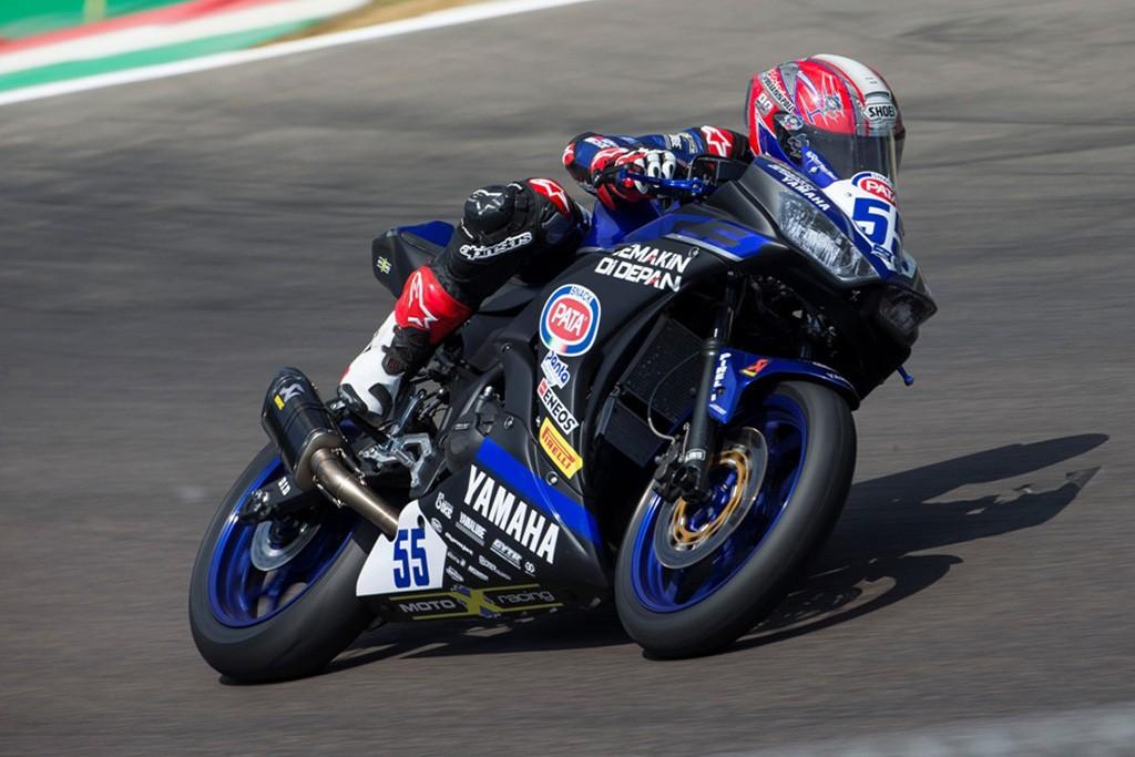 Galang akhirnya mendapatkan poin dimusim 2018 ini. Yamaha