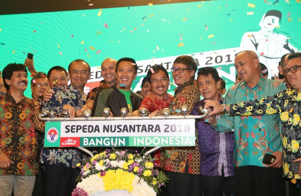 Kemenpora resmi luncurkan Sepeda Nusantara 2018. Foto: Dok. Kemenpora