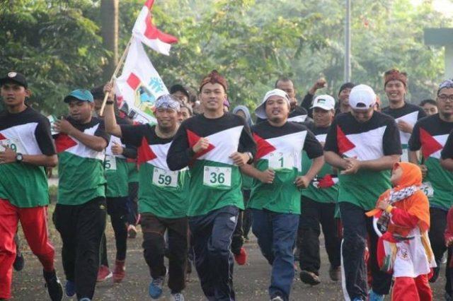 Fun run for Palestina yang digelar di Sentul, Bogor.