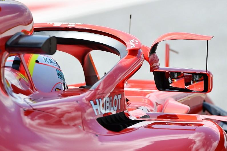 Spion pada halo di mobil Ferrari. (Foto: Autosport)
