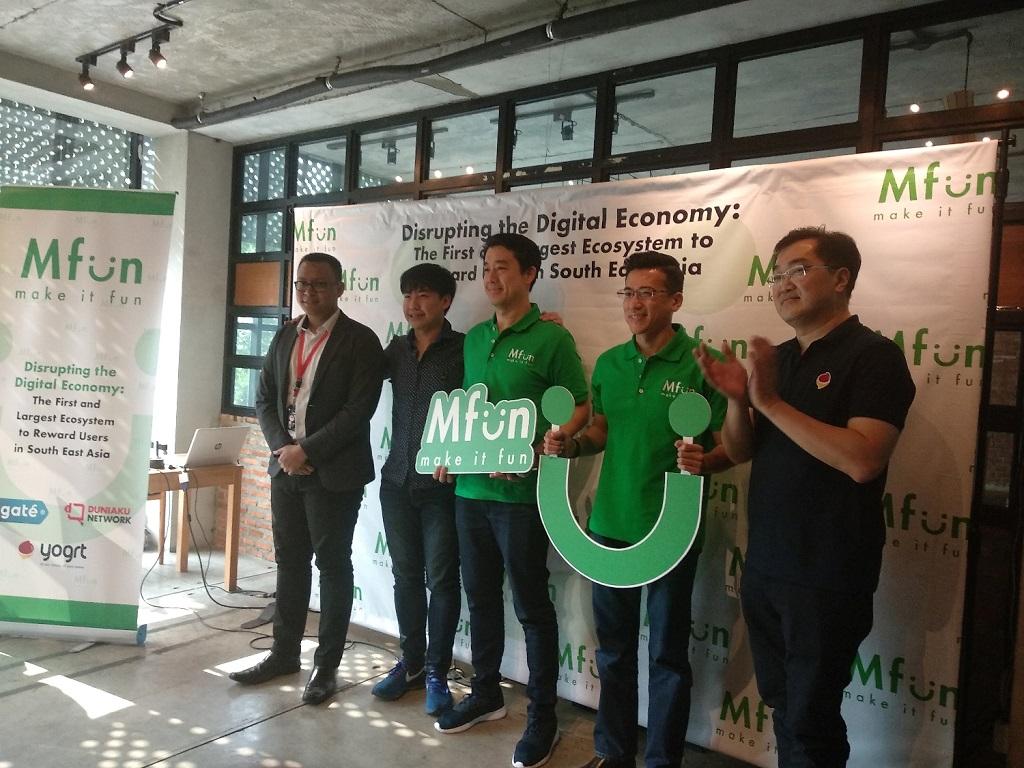 Peluncuran platform Mfun di Indonesia.
