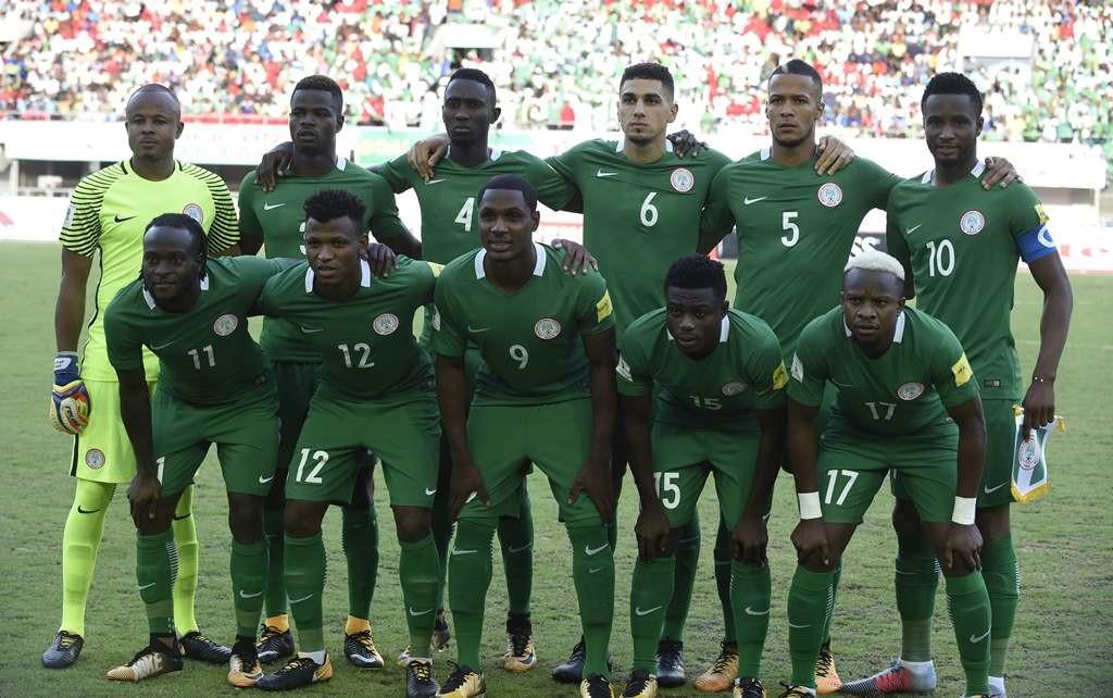 Skuat Nigeria. (Foto: AFP/Pius Utomi Ekpei)