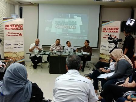Roundtable membahas terorisme di Media Group/Medcom.id/Arga Sumantri