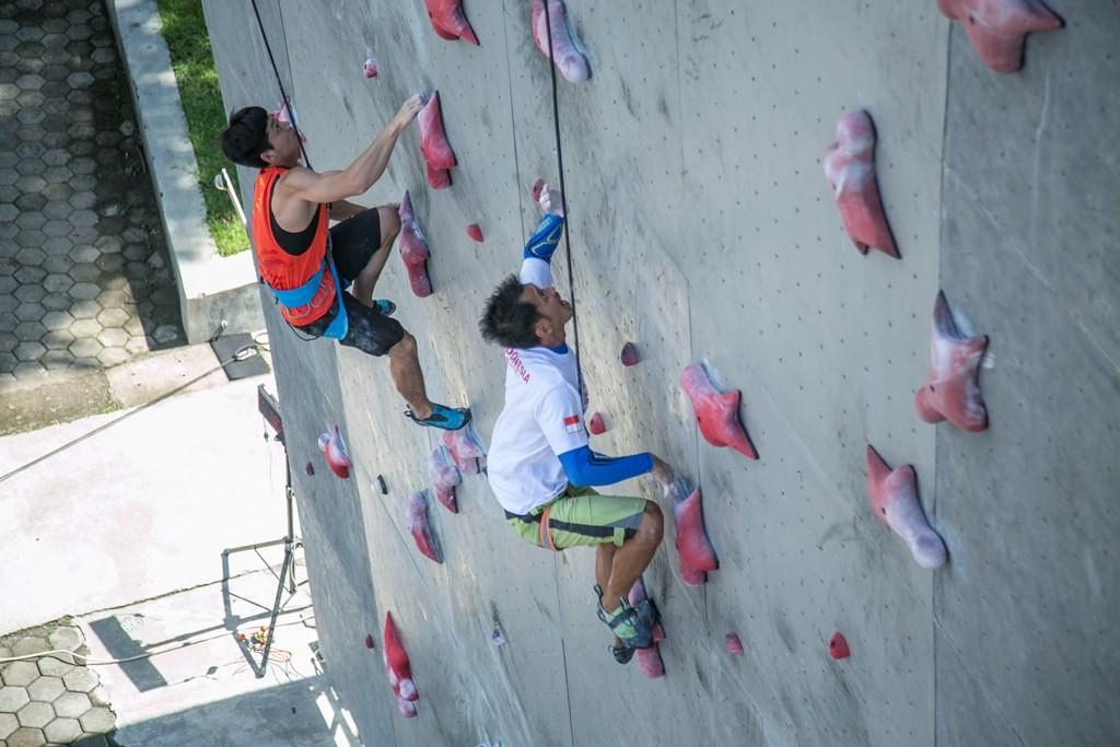 Ilustrasi latihan panjat tebing. (Foto: Antara/Hendra Nurdiyansyah)