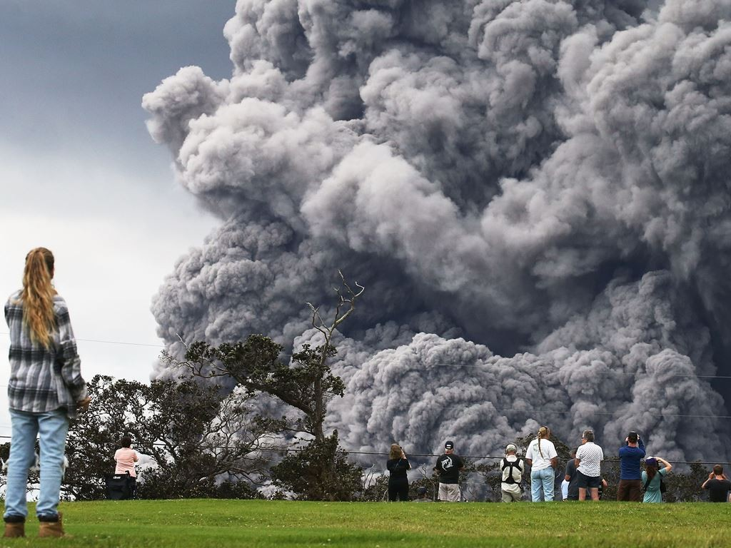 Erupsi Gunung Kilauea, Hawaii. (Foto: AFP).