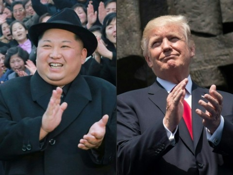 North Korean leader Kim Jong Un and US President Donald Trump