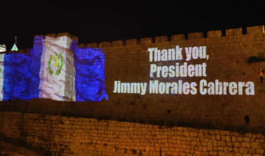 Perayaan menjelang pembukaan kedubes Guatemala di Yerusalem. (Foto: Twitter Wali Kota Yerusalem Nir Barkat)