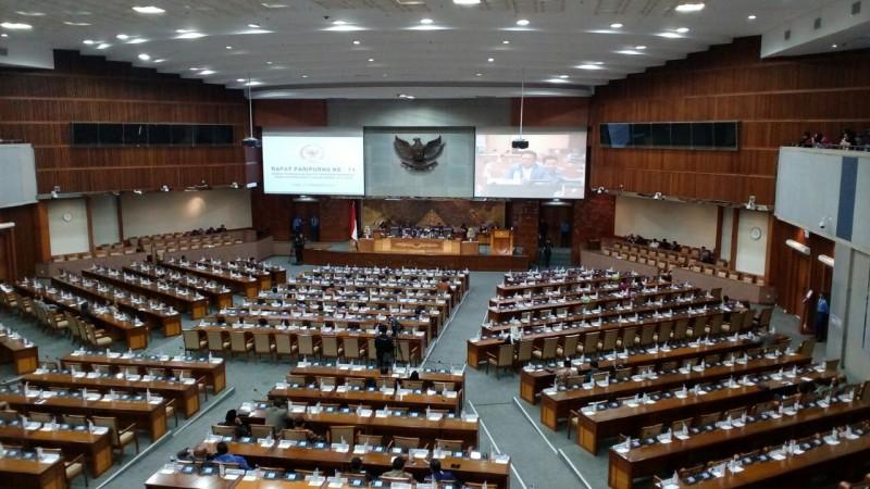 Suasana rapat paripurna di DPR. Foto: Medcom.id/M Rodhi Aulia.