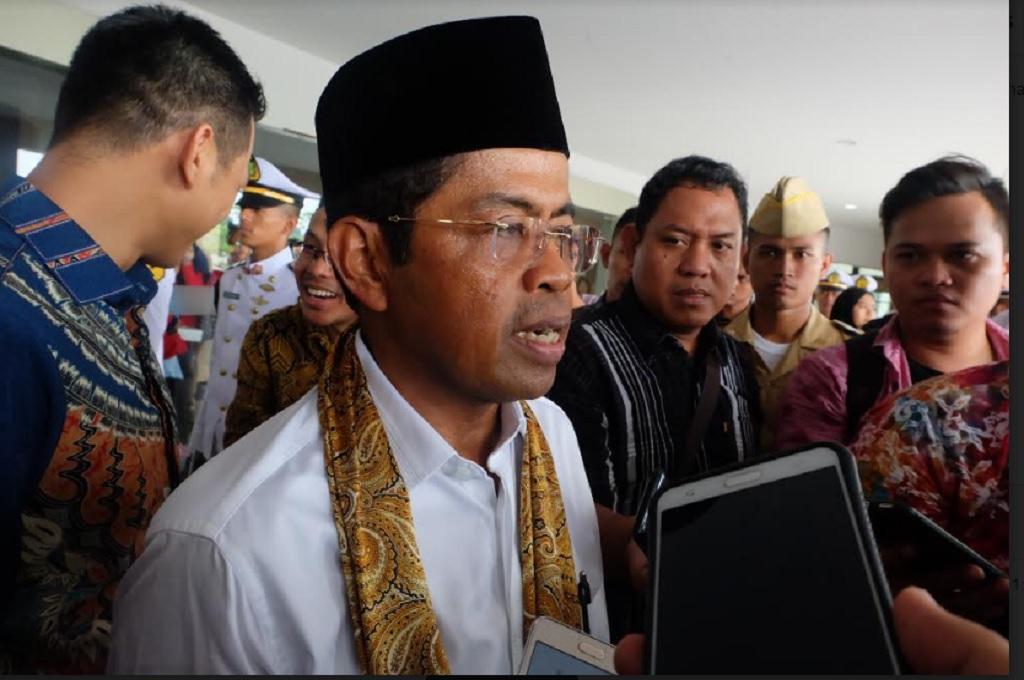 Menteri Sosial Idrus Marham di Semarang, Rabu 16 Mei 2018, Medcom.id - Budi Arista