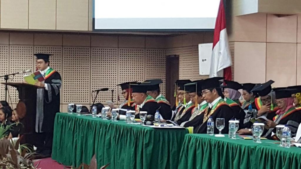 Sidang Senat Terbuka dalam rangka Dies Natalis ke-54 Universitas Negeri Jakarta (UNJ).   Foto: Humas UNJ