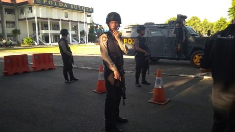 Mapolda Sulut dijaga personel bersenjata lengkap