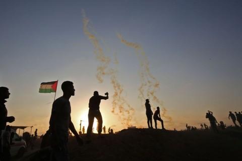 Warga Palestina memprotes peresmian Kedubes AS di Yerusalem