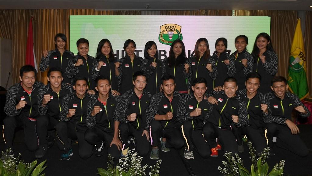 Atlet Indonesia yang akan tampil di Thomas-Uber Cup 2018 (Foto: ANTARA FOTO/Puspa Perwitasari)