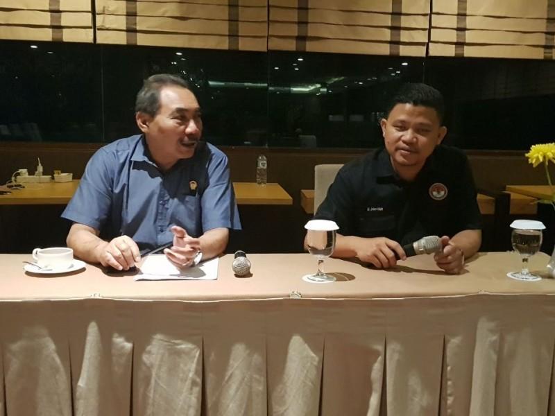Wakil ketua LPSK Hasto Atmojo Suroyo, di Gubeng, Surabaya, Jawa Timur, Rabu, 16 Mei 2018. Medcom.id/Syaikhul Hadi