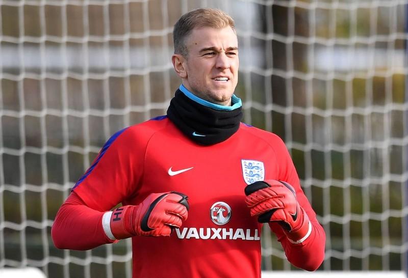 Joe Hart saat berseragam timnas Inggris pada November 2017. (Foto: AFP/BEN STANSALL)