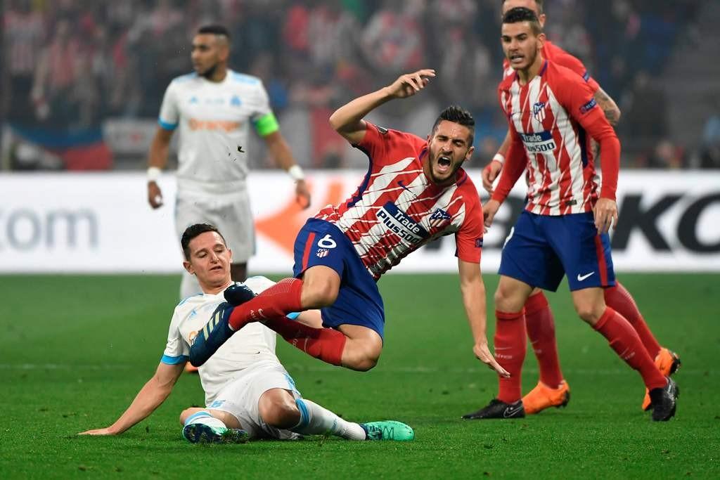 Marseille vs Atletico Madrid (Foto AFP/JEFF PACHOUD)